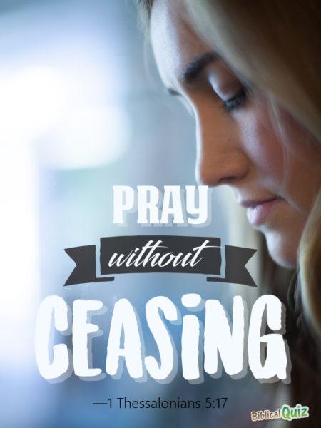 1 Thessalonians 5.17