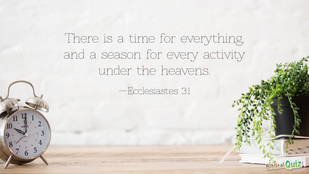 Ecclesiastes 3.1