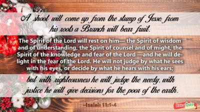 Isaiah 11.1-4