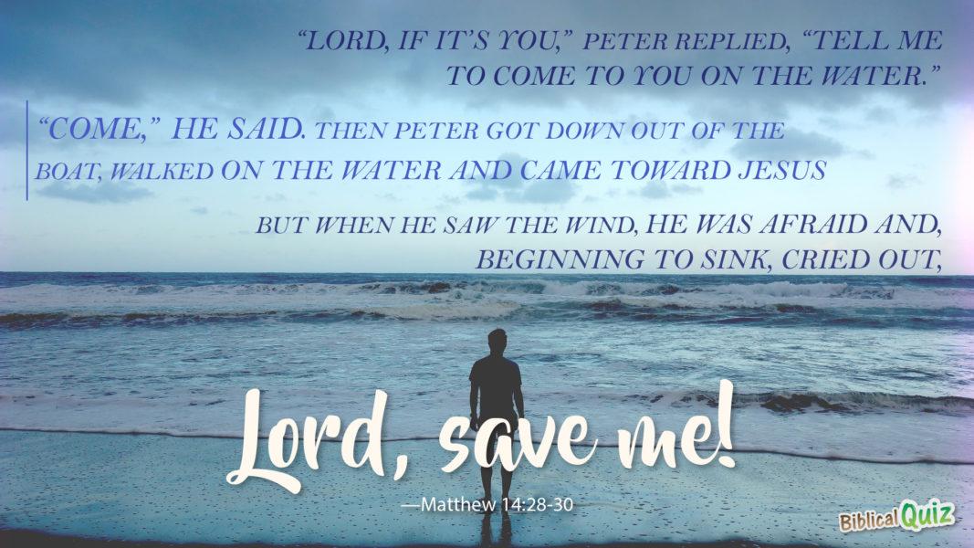 Matthew 14.28-30