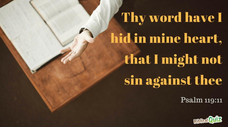 Psalm 119.11