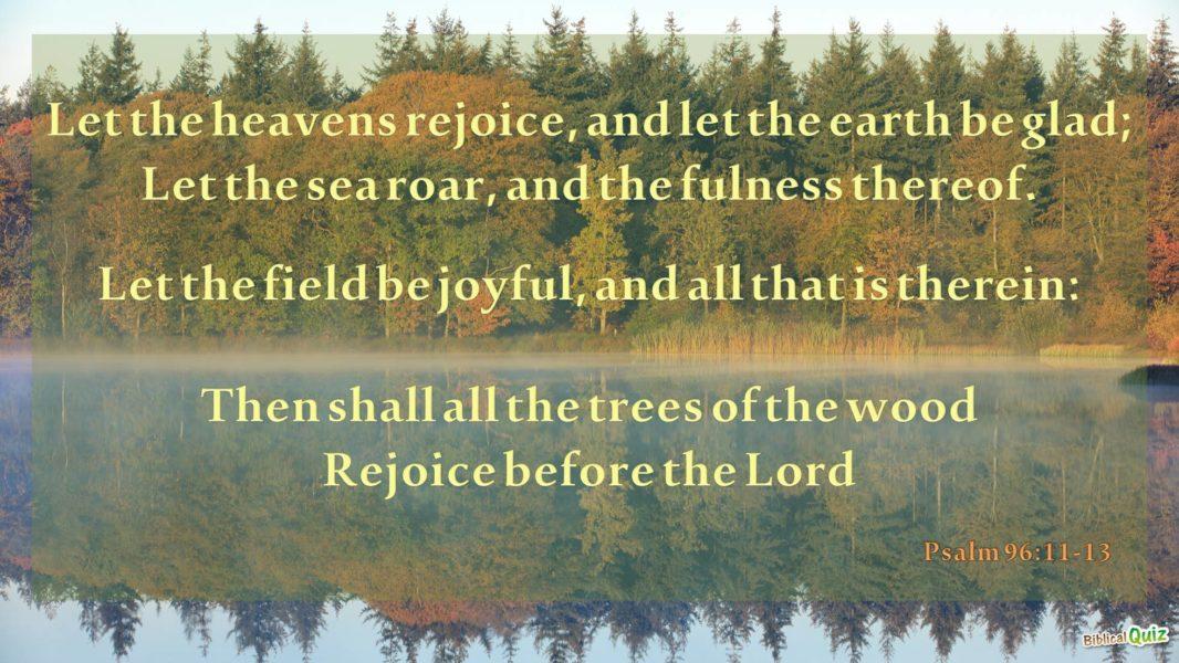 Psalm 96.11-13