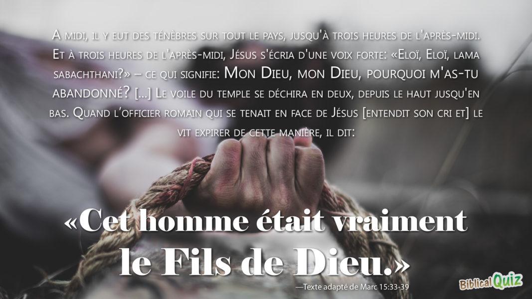 Marc 15.33-39
