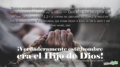 Marcos 15.33-39