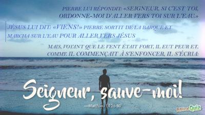Matthieu 14.28-30