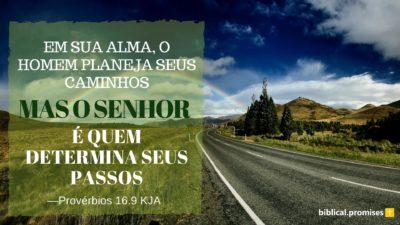 Provérbios 16.9