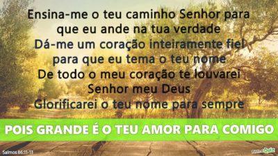 Salmos 86.11-13